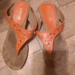 Peach color sandels